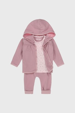 Бебешки комплект за момичета Babies Heart