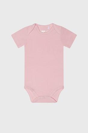 Розово бебешко боди за момичета с къс ръкав Baby