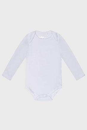 Бяло бебешко боди с дълъг ръкав Baby