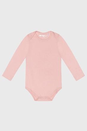 Розово бебешко боди за момичета с дълъг ръкав Baby