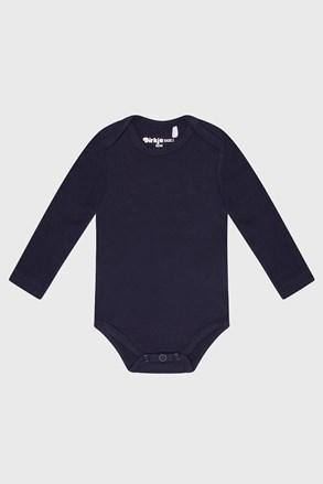 Синьо бебешко боди за момчета с дълъг ръкав Baby
