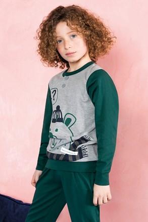 Пижама за момчета Bear зелена