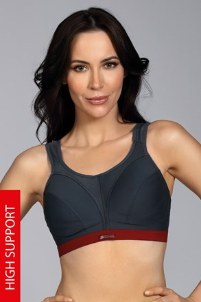 Спортен сутиен Shock Absorber Clasic Support сив