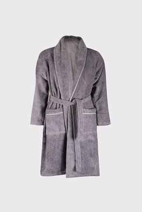 Сив халат Velvet soft touch