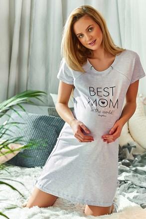 Нощничка за бременни и кърмачки Best mom сива