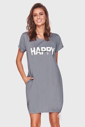 Нощничка за бременни и кърмачки Happy mommy сива