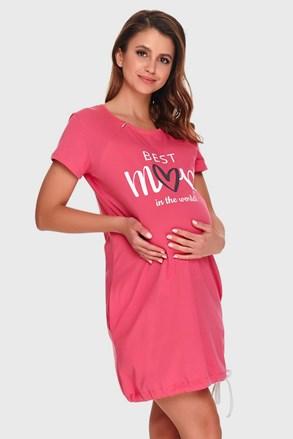 Нощничка за бременни и кърмачки Best mom pink