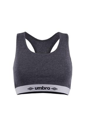 Сив памучен спортен сутиен Umbro