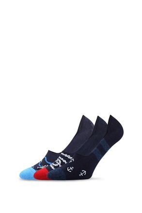 3 pack къси чорапи за мокасини Vorty