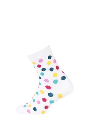 Детски гладки чорапи шарени точки