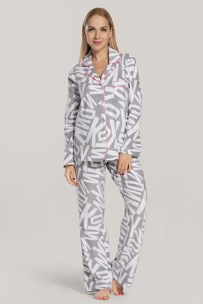 Сива дамска пижама DKNY Festive Beast