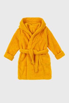 Жълт халат за момичета Simple