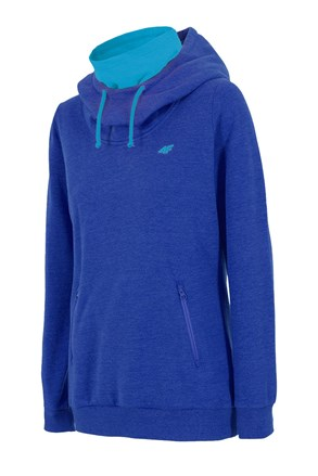 Дамско спортно горнище 4F с поло - синьо