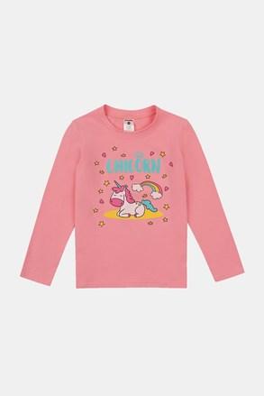 Тениска за момичета Sleeping unicorn
