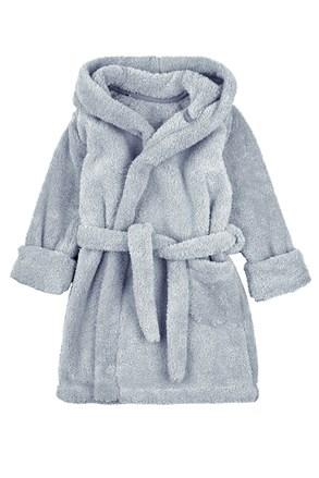 Детски халат сив