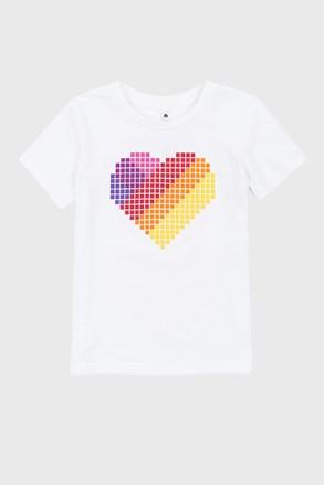Тениска за момичета Love hearts