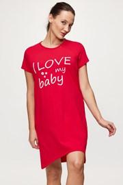 Нощница за бременни и кърмачки Love baby