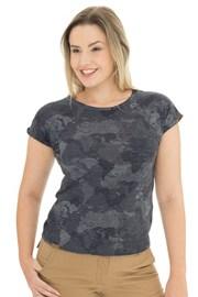 Дамска синьо-сива тениска Bushman Kira