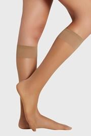 2 PACK дамски силонови чорапи до под коляното 10 DEN