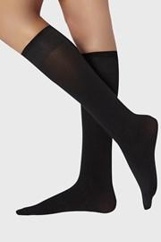 2 PACK дамски силонови чорапи до под коляното 70 DEN
