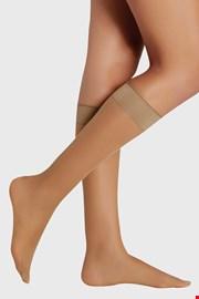 2 PACK дамски силонови чорапи до под коляното 20 DEN