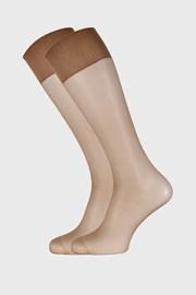 2 PACK силонови чорапи до под коляното 20 DEN