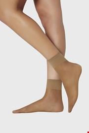 2 PACK дамски силонови къси чорапи 15 DEN