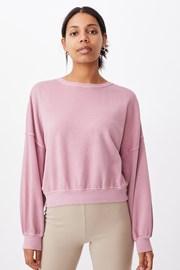 Розова спортна дамска блуза Cleo Balloon Oversized