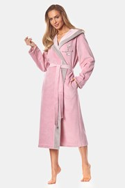 Дамски памучен халат May powder pink