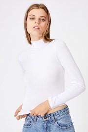 Бяло дамско basic поло Mila