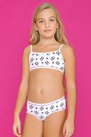 Комплект за момичета от бикини и топ White Pandas