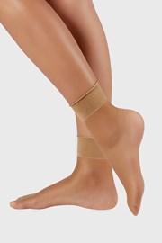 2 PACK дамски силонови къси чорапи 6 DEN