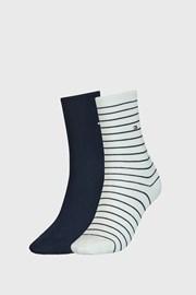 2 PACK синьо-бели дамски чорапи Tommy Hilfiger Stripes