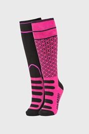 2 PACK чорапи за момичета до под коляното Concave розови
