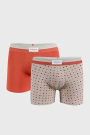 2 PACK оранжево-бежови боксерки Marks
