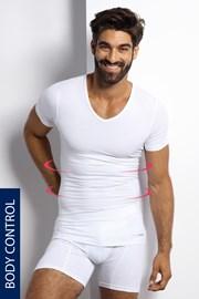 Стягаща тениска с шпиц деколте