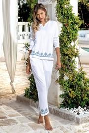 Дамски летен комплект Santorini бял