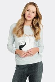 Дамско поларена блуза за спане