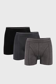 3 PACK черно-сиви боксерки Tender cotton