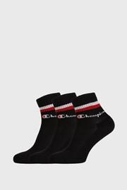 3 PACK черни чорапи Champion Classic stripes