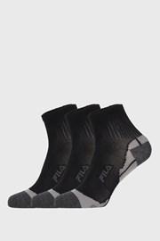 3 PACK черни чорапи FILA Multisport