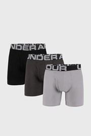 3 PACK черно-сиви боксерки Under Armour Cotton
