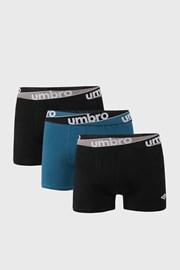 3 PACK синьо-черни боксерки Umbro