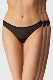 3PACK бразилски бикини Aubrey Invisible