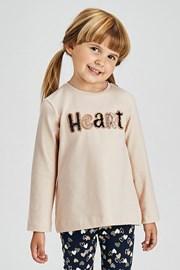 Комплект за момичета от клин и блуза Mayoral Heart