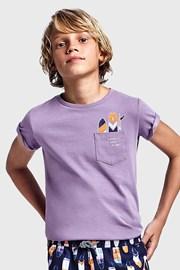 Виолетова тениска за момчета Mayoral Grape