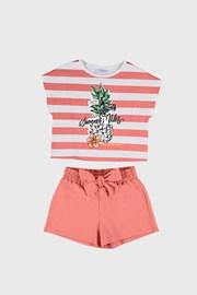 Комплект от тениска и шорти за момичета Mayoral Summer Vibes