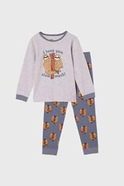 Пижама за момчета Lenochod дълга
