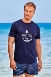 Тъмносиня тениска Yacht Club