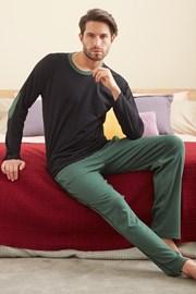 Черно-зелена пижама Larry